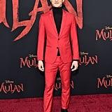 تشن تانغ في العرض العالمي الأول لفيلم مولان في لوس أنجلوس