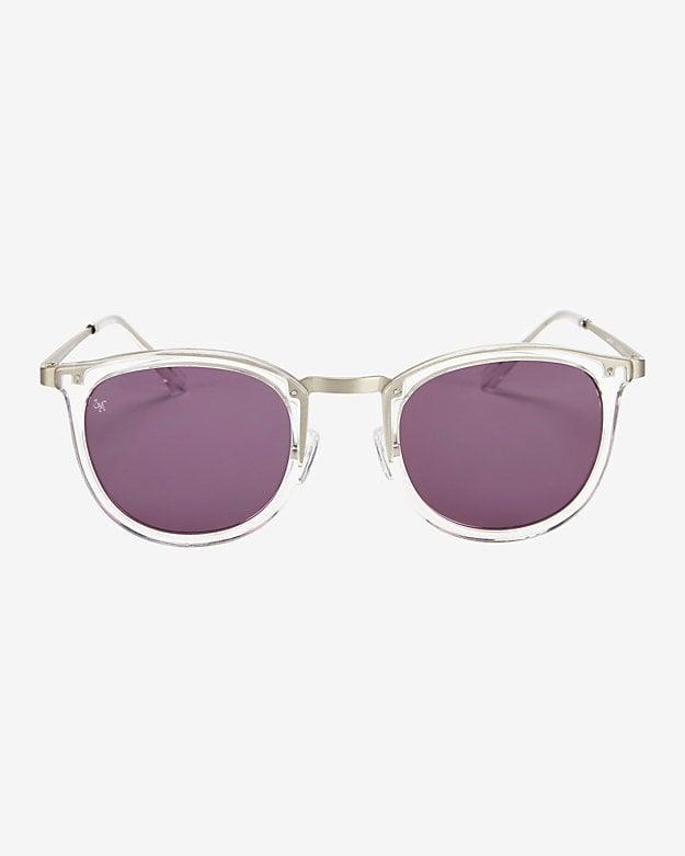 Smoke X Mirrors Shout Clear Sunglasses ($295)