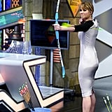 Jennifer Lawrence showed off her archery skills in Madrid while visiting the Spanish TV show El Hormiguero in April.