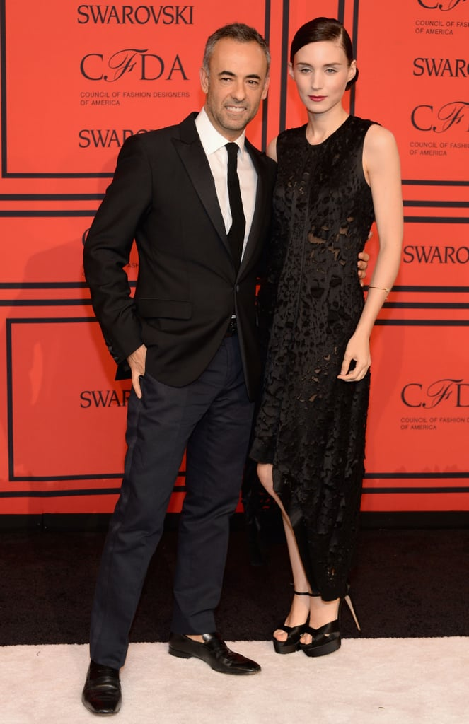 Francisco Costa and Rooney Mara posed together on the red carpet.