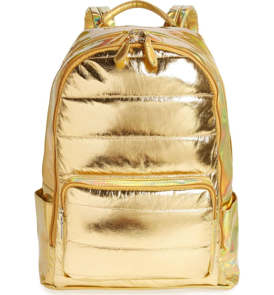 Bari Lynn Quilted Metallic Holographic Backpack   Cute Backpacks For ... a613b1e7e8