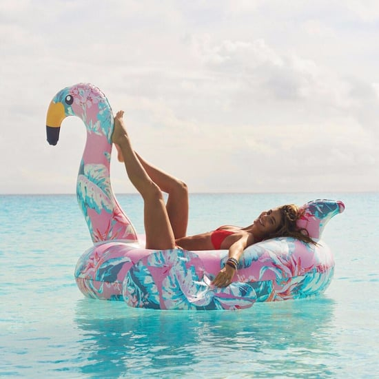 Floral Flamingo Pool Float