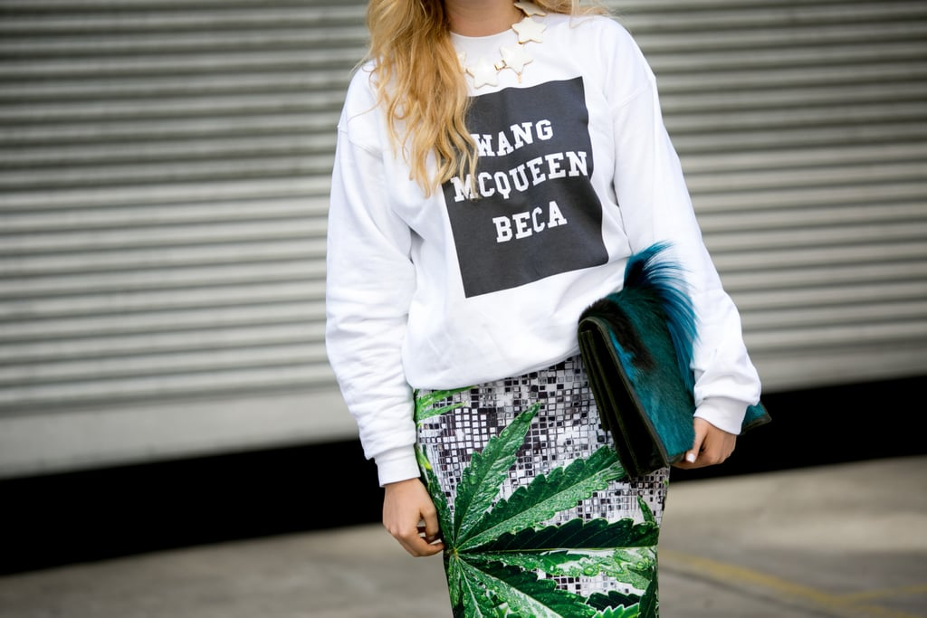 Very apropos Fashion Week gear, no?