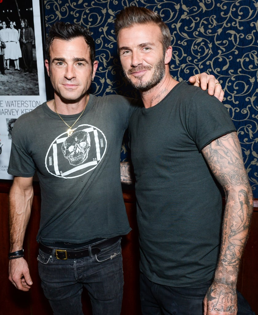 David Beckham and Justin Theroux Have the Hottest Boys' Night Out