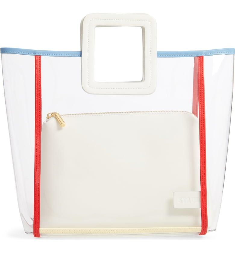 Staud Shirley Framed Transparent Handbag