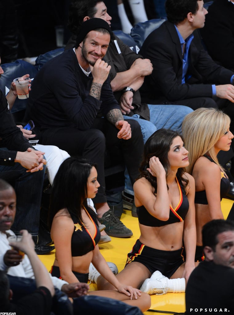 David Beckham watched the Lakers game.