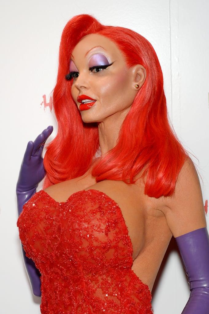 Heidi Klum's Jessica Rabbit Halloween Transformation