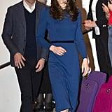 Kate Middleton Blue Jenny Packham Dress in Northern Ireland