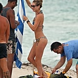 Doutzen Kroes and husband Sunnery James relaxed on a beach in Miami.