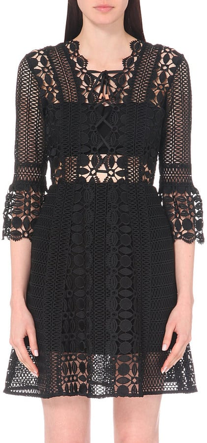 Self-Portrait Embroidered Lace Dress (£250)