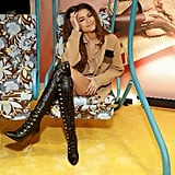 Zendaya Wears a Fendi Cardigan and Thigh-High Boots in NYC