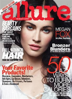 Megan Fox In Allure: Admits to OCD and Going a Week Without Eating
