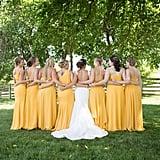 Hufflepuff-Inspired Bridesmaid Dresses