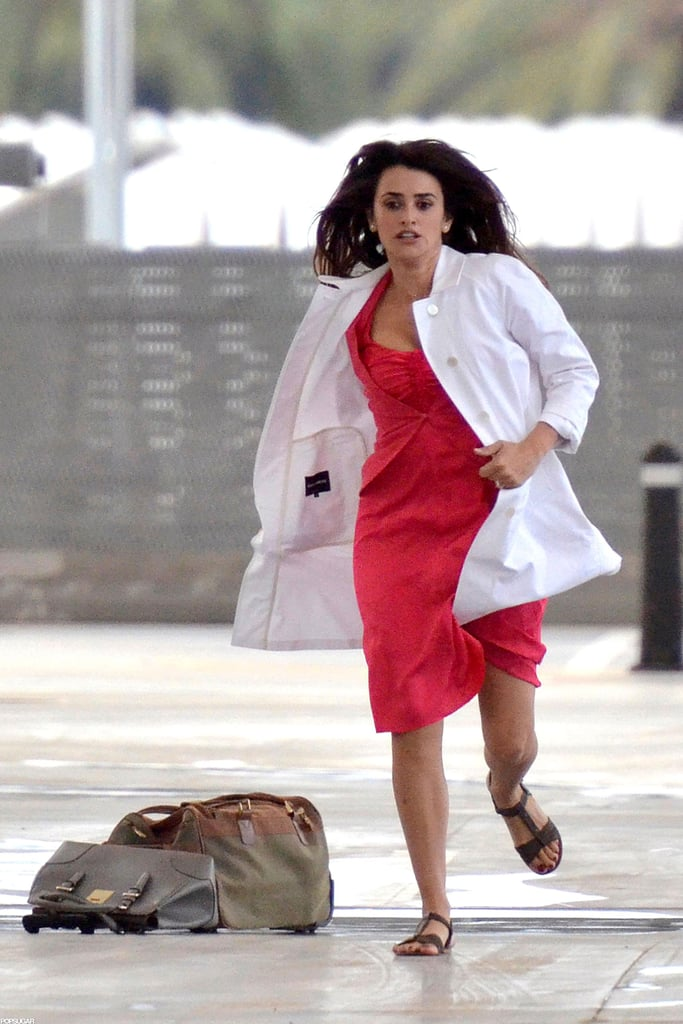 Penelope Cruz picked up the pace and ran during the scene.