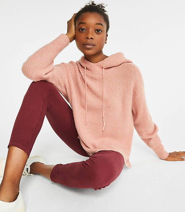 Lou & Grey Hoodie Tunic Sweater