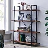 Homissue 4-Tier Industrial Style Bookshelf