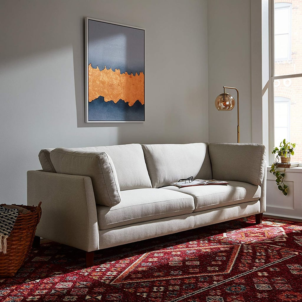 Rivet Midtown Midcentury Modern Upholstered Sectional Sofa Couch