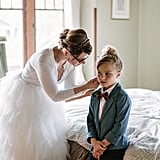 The Precious Reason This Girl Is the Ring Bearer in Her Mom's Wedding