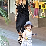 Rachel Zoe took her son, Skyler, to shop at Kitson Kids in LA.