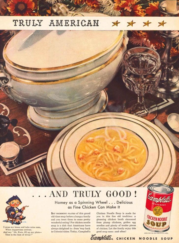 1946   campbell's chicken noodle soup vintage ads