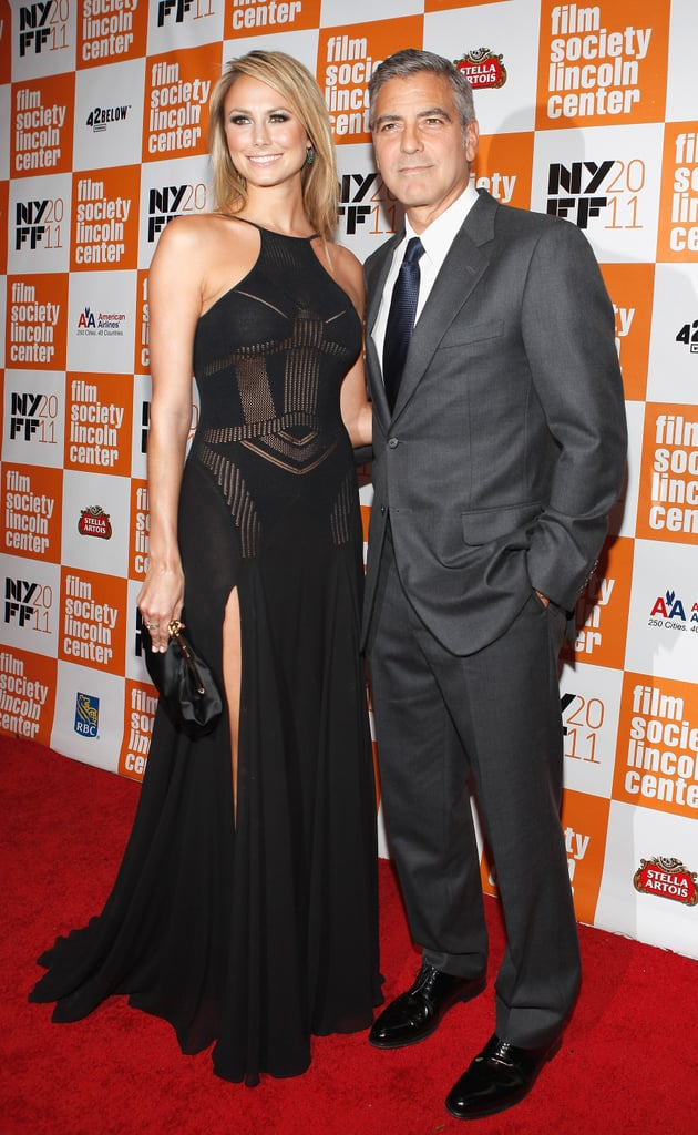 Stacy Keibler and George Clooney at the NYC premiere of The Descendants.
