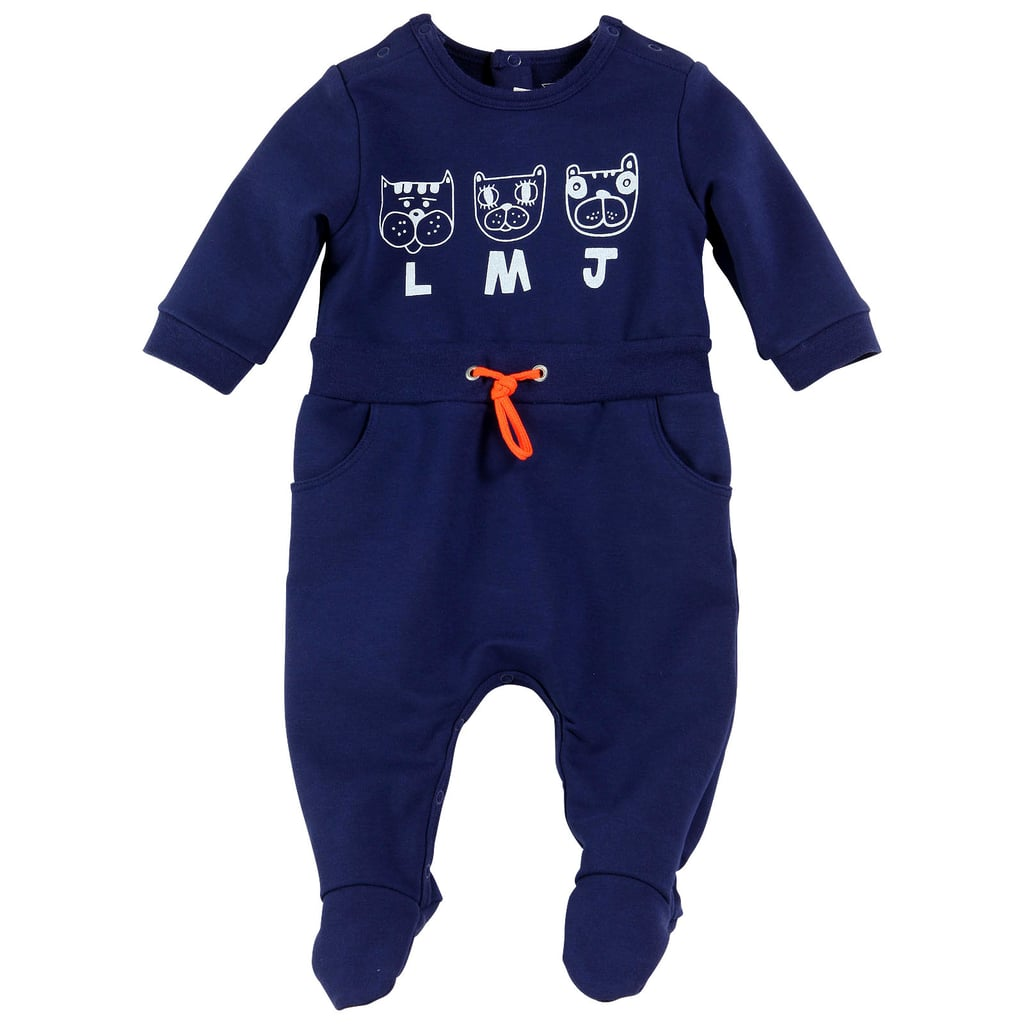 Little Marc Jacobs Navy Blue Light Fleece Sleepsuit ($70)