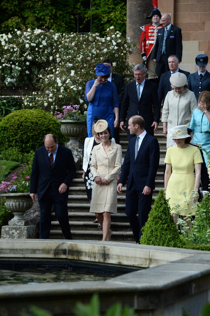Kate Wearing Her Yellow Coat For Northern Ireland's Garden Party, 2016