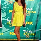 Lea was bright in a yellow Thread Social dress at the Teen Choice Awards in 2009.