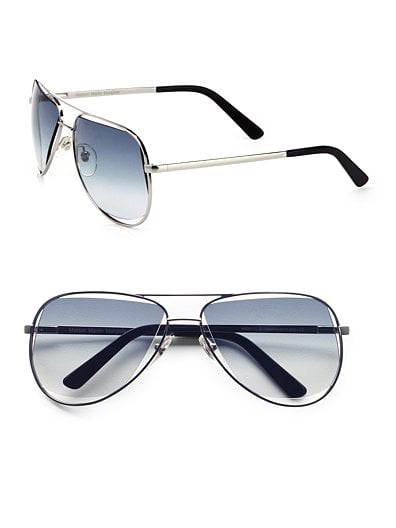 Maison Martin Margiela Metal Wrong Lens Aviator Sunglasses ($590)