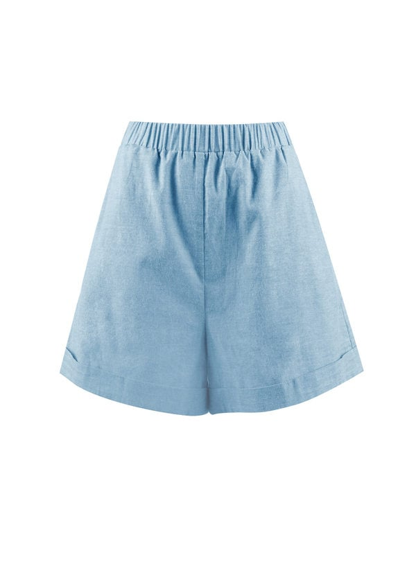 Blush Mark Feeling Freedom Denim Blue Short
