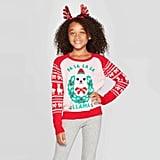 Well Worn Girls' Fa La La Llama Ugly Christmas Sweater