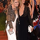 Sienna Miller and Cara Delevingne at the Met Gala 2013.
