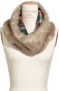 The plaid lining on this Madewell Faux Circle Scarf ($60) adds a nice, classic American touch.