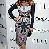 Lake Bell wore a Fall 2012 Etro dress to attend the Elle Women in Hollywood Awards in LA.