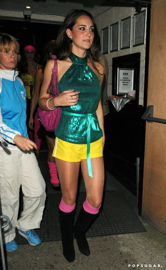 Kate Middleton donned a colorful outfit when she attended a September 2008 roller disco party in London.