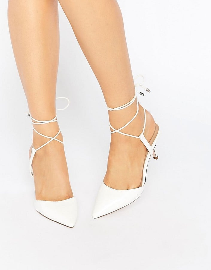7b3cd6d01518df Asos Showcase Pointed Lace Up Heels (£30)