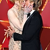 Nicole and Keith shared a passionate kiss on the Oscars red carpet in LA in February 2017.