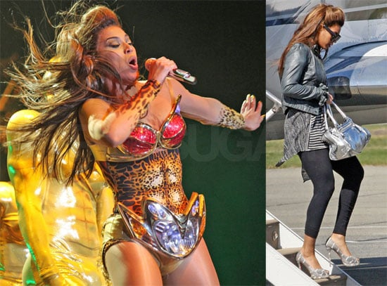 Photos of Beyonce Knowles on Tour in Vancouver