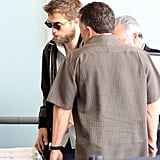 Rob traveled with a security guard.