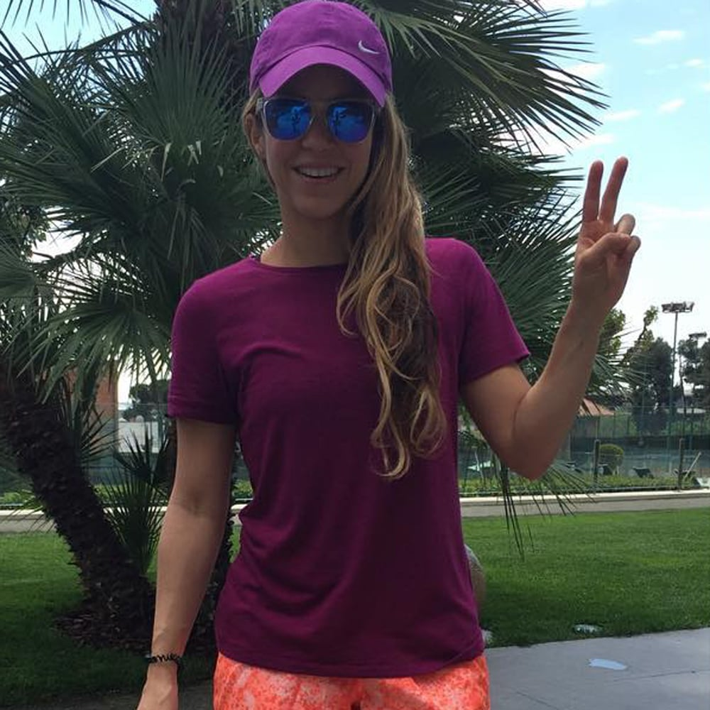 Shakira Wearing Colorful Activewear