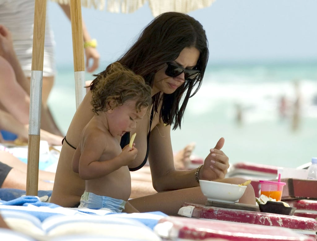 Adriana Lima with daughter Valentina Jaric.