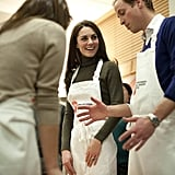 The duke and duchess participated in a healthy eating cooking class.