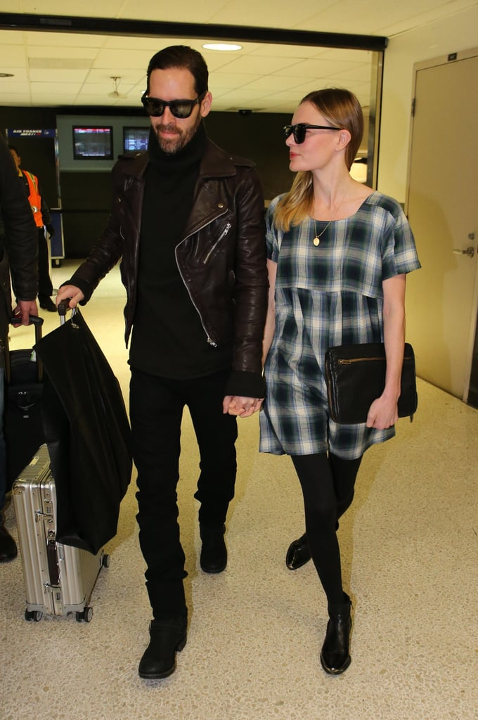 Kate Bosworth and Michael Polish held hands at LAX.