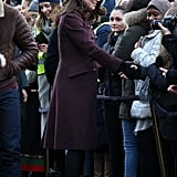 It's clear the duchess is taller than the average woman.