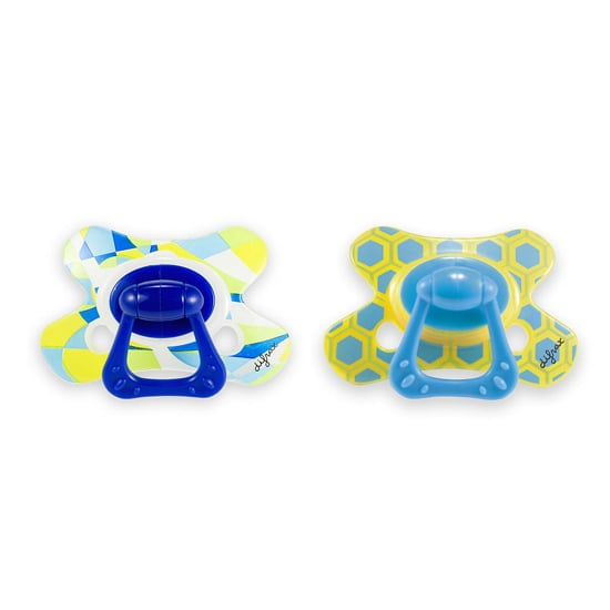 Between the fun colors and patterns, these pacifiers ($6) are anything but boring.