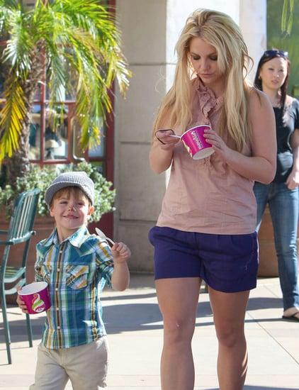 Britney Spears And Son Sean Preston Getting Frozen Yogurt In Calabasas