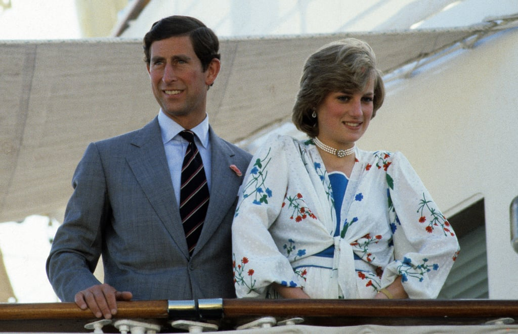Prince Charles and Princess Diana flashed smiles as they embarked on their honeymoon cruise in 1981.