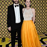 Husband-and-wife Hollywood duo Judd Apatow and Leslie Mann posed together at the HBO party.