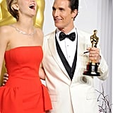 Jennifer Lawrence and Matthew McConaughey, 2014