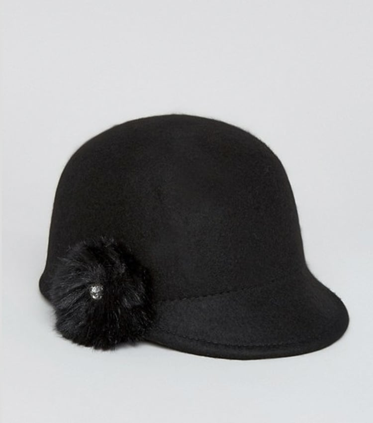 Ted Baker Felt Hat With Faux Fur Pompom